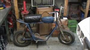 bicicleta cu motor 1970