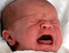 bebè piange