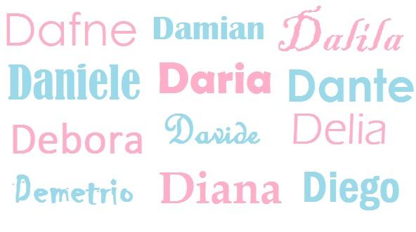 I Nomi Per I Bambini Origine Significato E Onomastico Lettera D Bimbonaturale Org