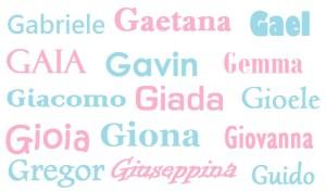 Nomi lettera G bimbonaturale