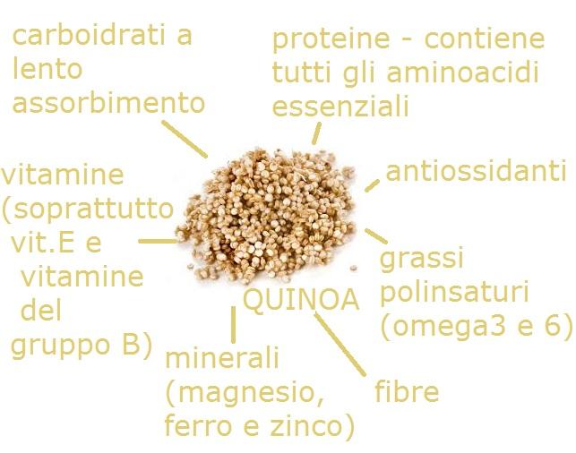 QUINOA ZARATTERISTICHE NUTRIZIONALI