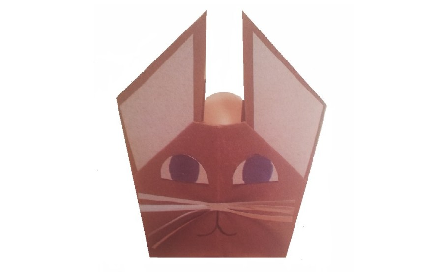 coniglietto pasqua portauovo origami