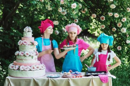 bambini pasticceri torta
