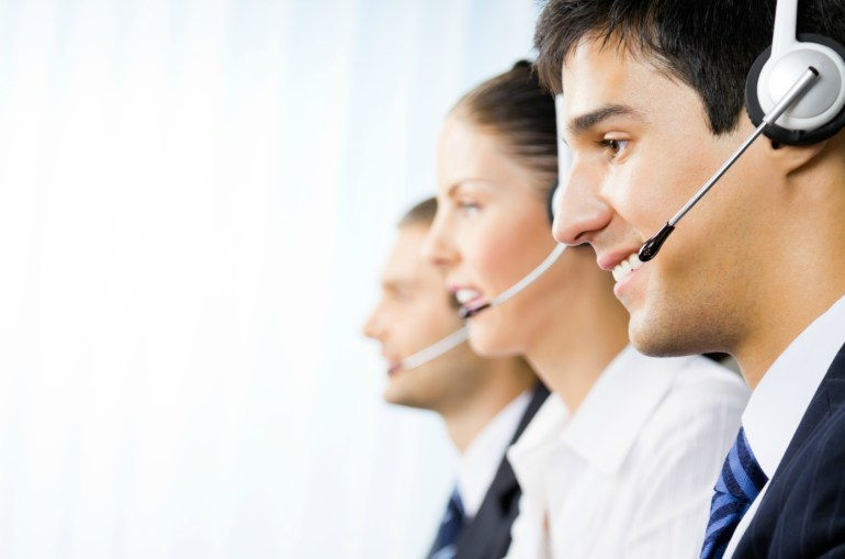 Funcionário de call center de uma empresa