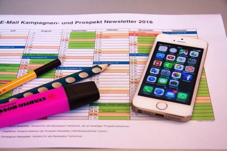 planejamento de newsletter para envio da NPS