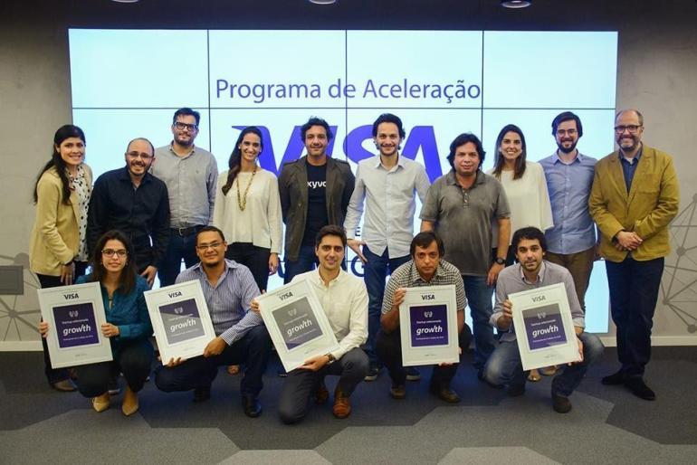 equipe da binds.co presente no Programa de Aceleração Visa 2018