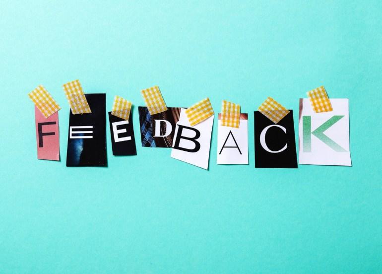 feedback da pesquisa de satisfação