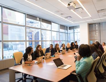 Equipe em reunião