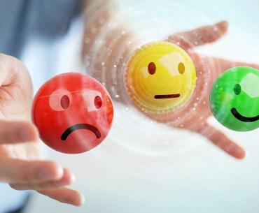 Emojis representando a pesquisa de satisfação
