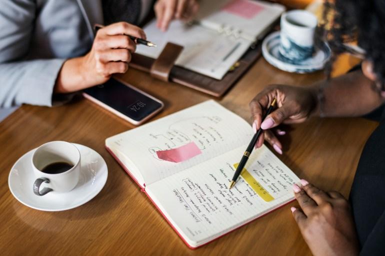 Equipe elaborando planejamento.