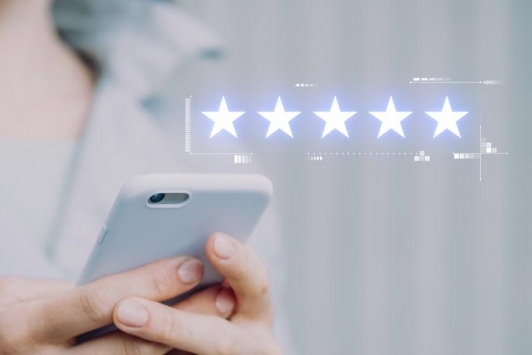 Cinco estrelas no customer satisfaction score