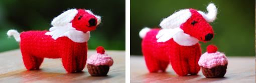 Häkeldackel mit Cupcake zu gewinnen!