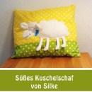 """Schafkuschelkissen, genäht von Silke nach dem binenstich-E-Book """"Schafkuschelkissen""""   binenstich.de"""