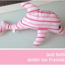 """Delfin, genäht von Franziska nach meiner Anleitung """"Dolli Delfin""""   binenstich.de"""