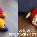 """Wunderschöne bunte Delfine von Andra, genäht nach dem binenstich-Ebook """"Dolli Delfin"""""""