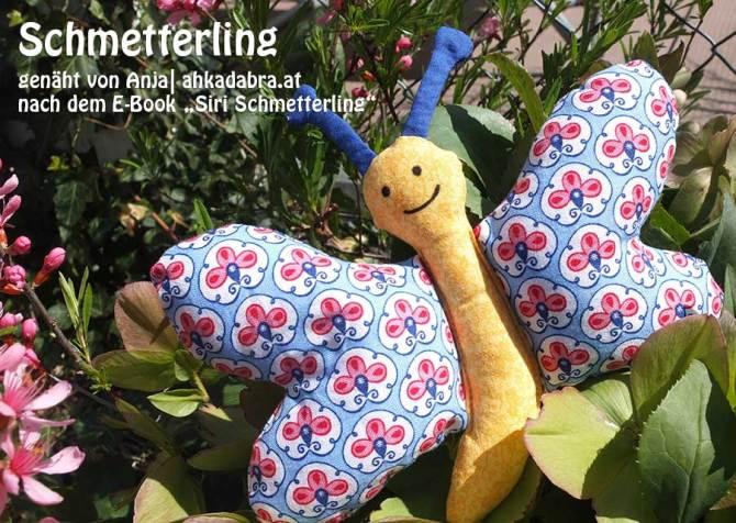 """Schmetterling, genäht von Anja  ahkadabra.at   nach dem binenstich-Ebook """"Siri Schmetterling""""   binenstich.de"""