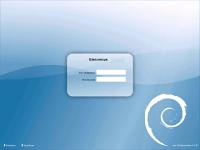pantallada del tema Debian-moreblue pel KDM