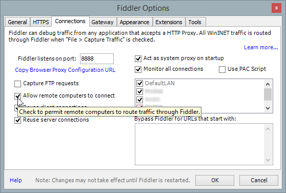 Fiddler Connections Tab