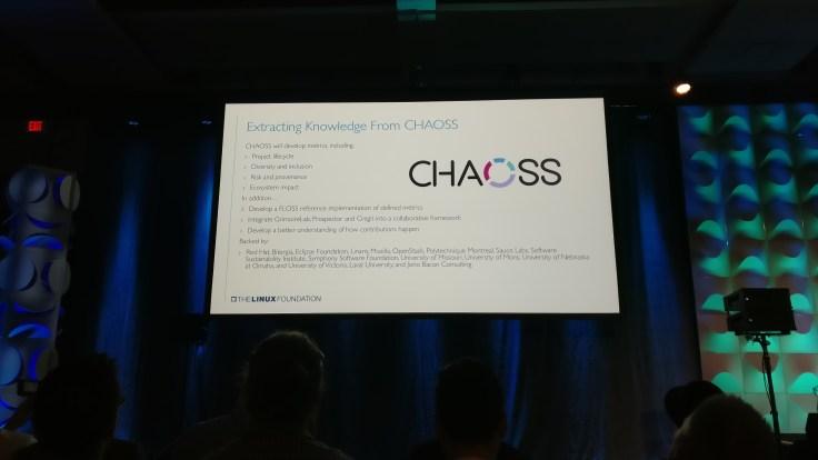 CHAOSS announcement slide