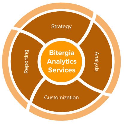 Bitergia Analytics Cycle: Strategy, Analysis, Customization, Reporting