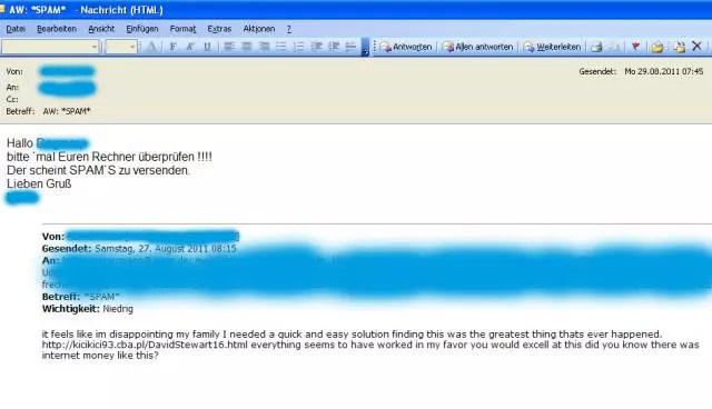 Dating-Websites Spam-Mails Suche Dating-Seiten kostenlos