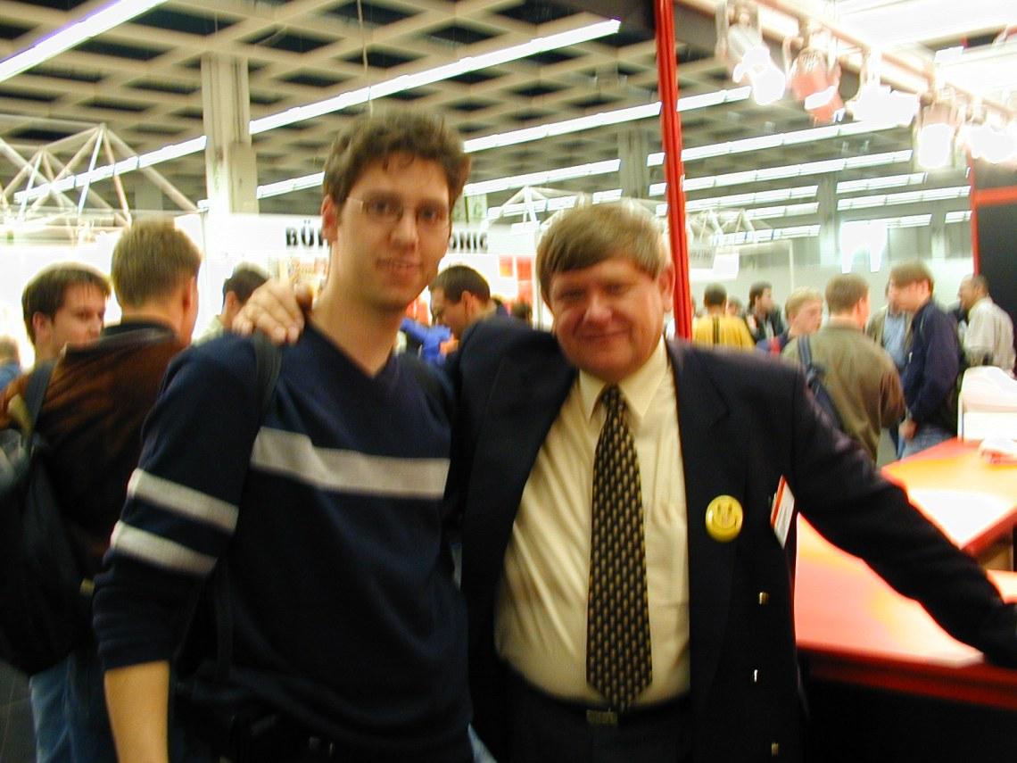 Stefan Juhnke Amiga-Technologies Präsident Petro Tyschtschenko