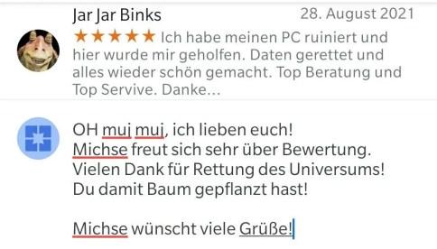 Jar Jar Binks Bewertung bitpiloten