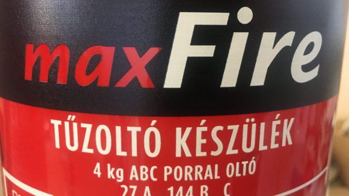 maxFIRE4 tűzoltó készülék