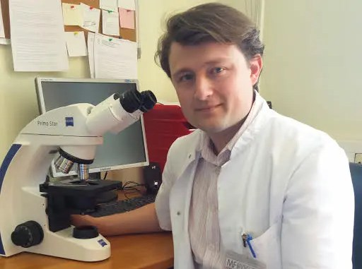 Dr. Nikola Bijelic, the lead author of the study on Localization of trefoil factor family peptide 3 in epithelial tissues Dr Nikola Bijedic, the lead author of the study on localization of trefoil factor family peptide 3 in epithelial tissues