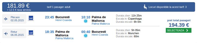 Mallorca-Bilete avion, rezervari online