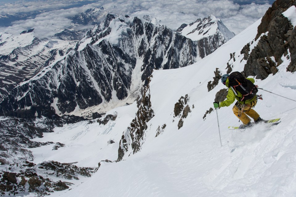 Jesper Petersson on the west face. Photo ©Ross Hewitt