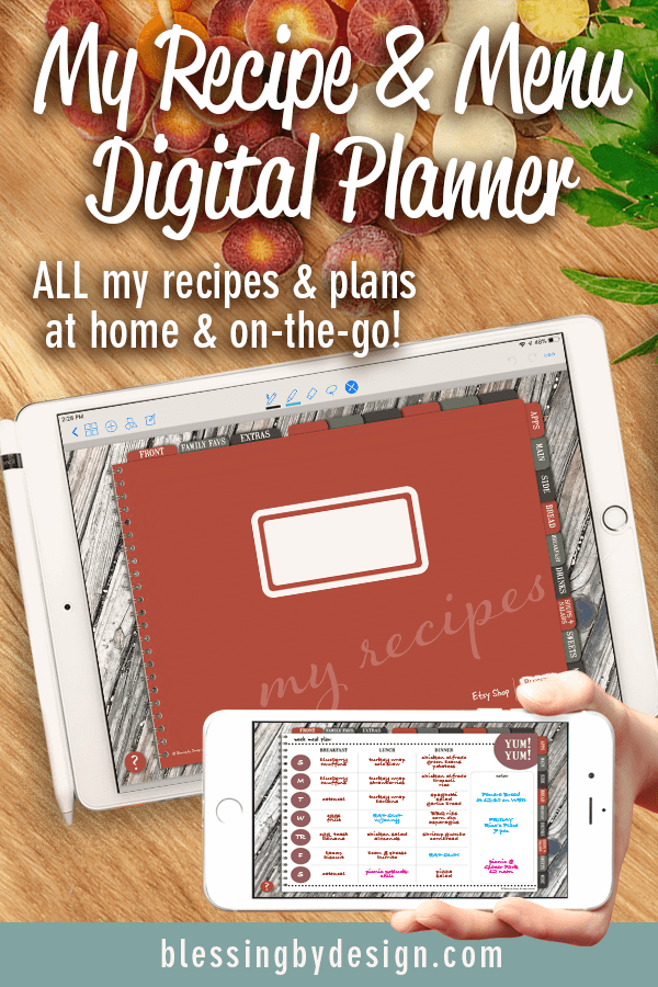 Recipe and Menu Digital Planner