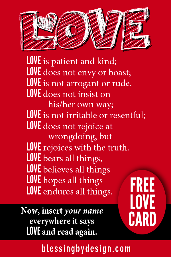 What Love Is | FREE Love is Card