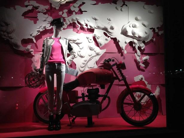 Bergdorf Goodman window dressing