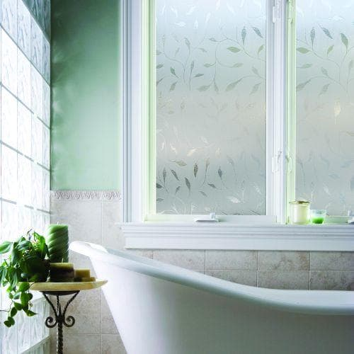 Window contact paper for the bathroom