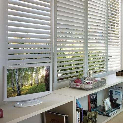 Blinds.com Brand Track Fauxwood Shutters