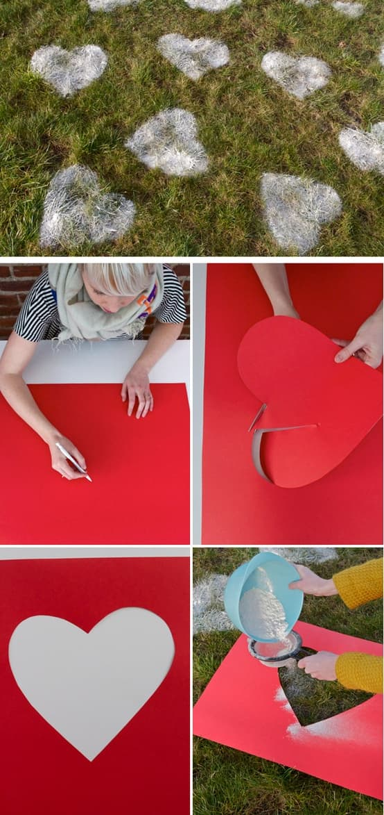 Valentines Day Lawn Hearts