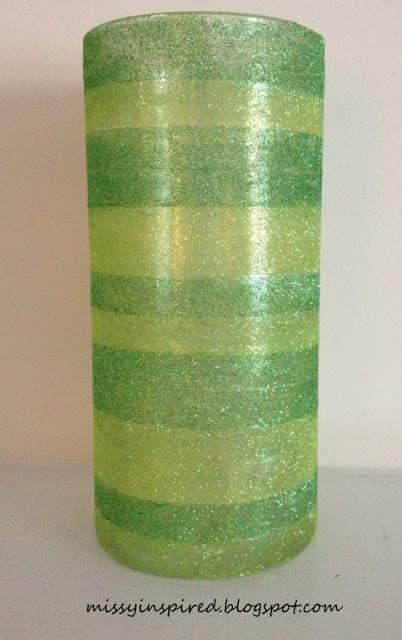 St. Patrick's Day Glitter Vase
