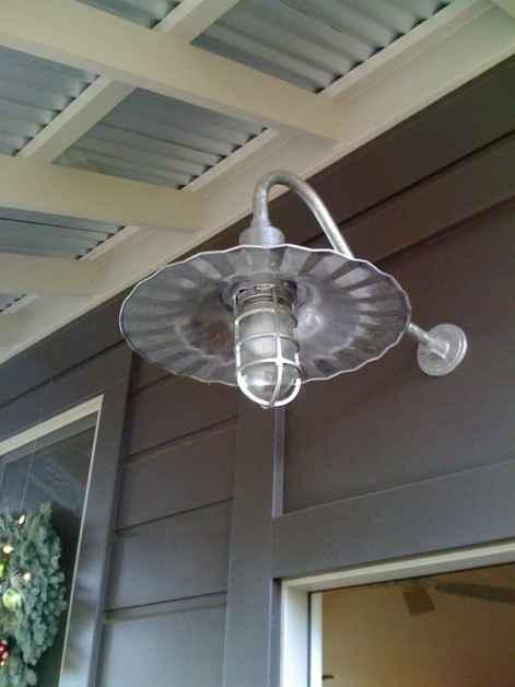 Retro tin porch light