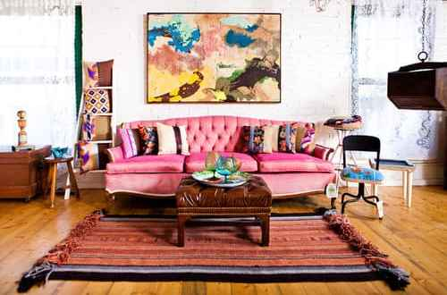 eclectic living room