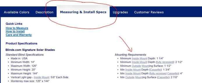 measuring specs door