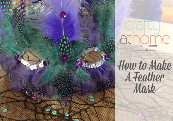 How to make a feather mask for halloween