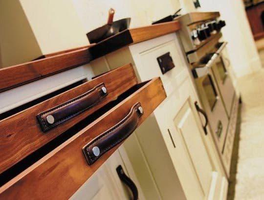 Leather Kitchen Drawer Pulls