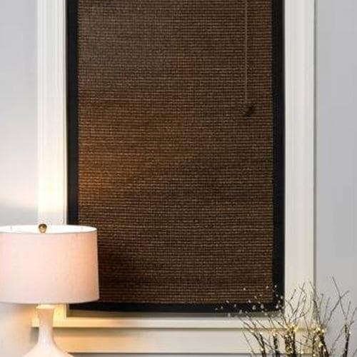 Woven Wood Shades with Edge Binding