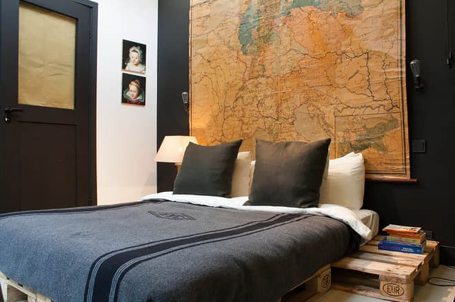 Manly Map Bedroom
