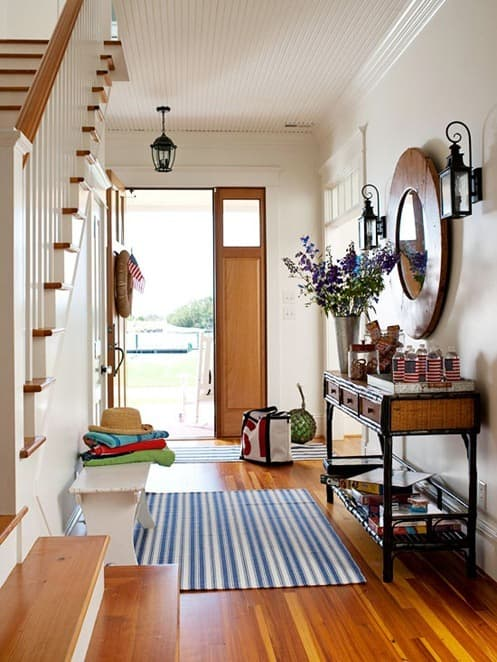 Freshen up entry rugs for summer