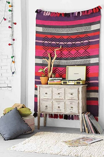 Magical Thinking Overprint Handmade Rug from Urban Outfitters