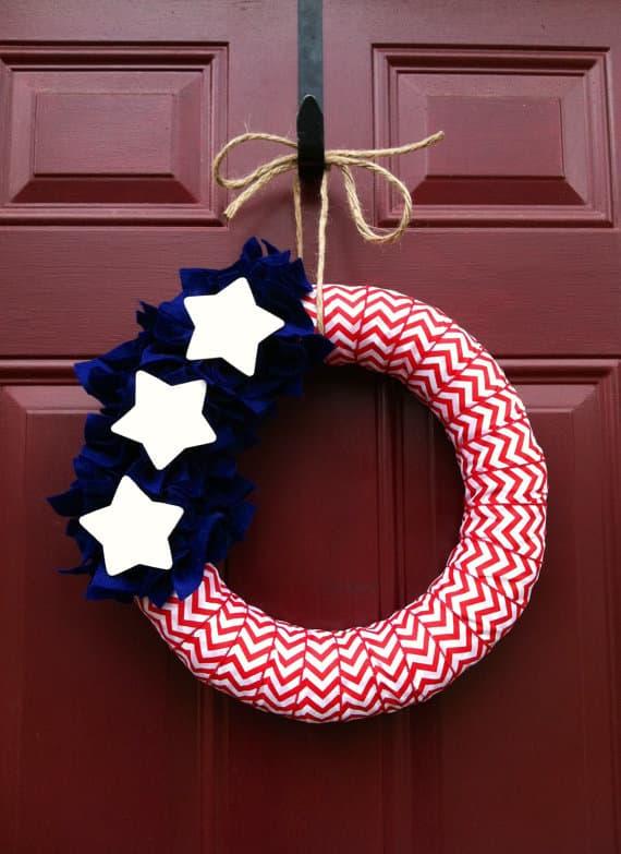 chevron ribbon wreath