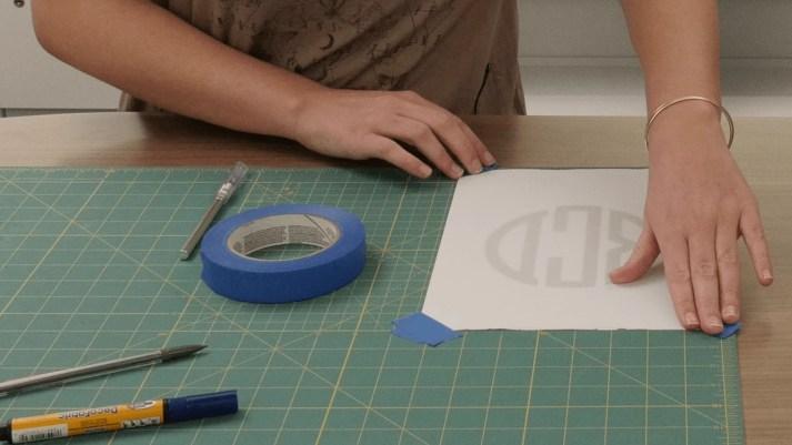monogrammed roman shade tape