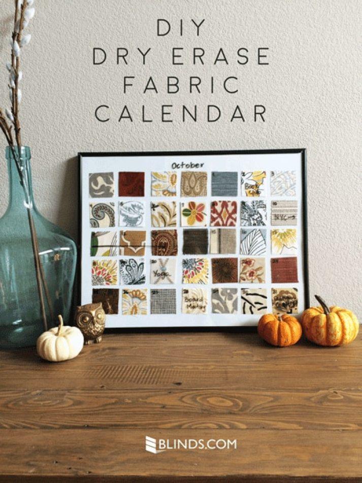 DIY Dry Erase Fabric Calendar